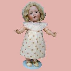 """17 In. German Character """" Hilda """" Toddler by J. D. Kestner Mold #245 Wigged Version"""