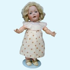 "17 In. German Character "" Hilda "" Toddler by J. D. Kestner Mold #245 Wigged Version"