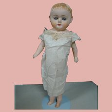 18 In. Mache Shoulder Head Patent Washable Doll, Glass Eyes, Closed Mouth, Cloth Body, Comp. Arms, Legs