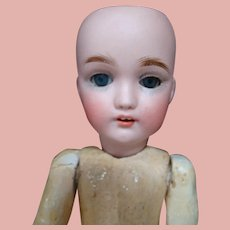 10-3/8 In. German Franz Child Doll (Heads by Simon & Halbig) on French Composition Body, Pierced Nostrils