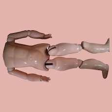 19-1/2 In. German Fully Jointed Composition Body for Bisque Head Doll