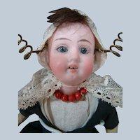 8-1/4 In. Original German Bisque Head Child by Gebruder Kuhnlenz Mold #41-17