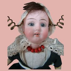 8-1/4 In. Original German Bisque Head Child by Gebruder Kuhnlenz Mold #41-17