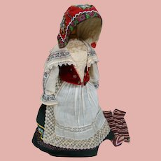 Complete Regional Outfit, Hat, Socks for 25-27 in French or German doll