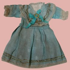 Original Factory Antique Dress with Attached Slip and Bustle