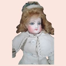 Small Sz 2/0 Jumeau French Fashion, Swivel Neck, Blue Glass Eyes, Antique Clothes and Shoes