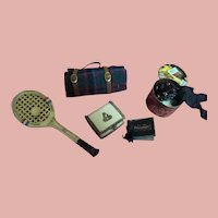 Five Vintage Miniature Accessory Items for Antique Dolls