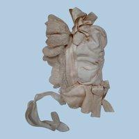 Original Antique Bebe Bonnet, Silks, Laces and Ribbons, The Works!