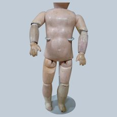 8-1/4 In. HTF Fully Jointed French Compo and Wood Child Body to Make a 9-1/2-10 In. Bebe