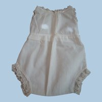 """Factory Antique """" Onesie """" Camisole and Pants Underset for Medium Size Toddler or Baby Doll"""