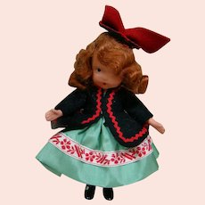 Original, Complete and Near Mint Red Head NASB Doll with Black Painted Boots