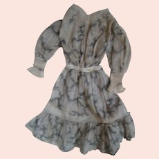 Two Piece Ensemble For Slender Lady Type Doll from Early 1900's, 16-17 In. Tall