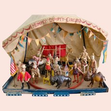 Schoenhut Humpty Dumpty Circus with Original Tent, Flooring, Ring for Performers, Flags and More