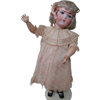 """22 In. Armand Marseilles German Character Mold #400 Lady Doll, Flapper Girl, Original """" Teen Type """" Composition Body, Closed Mouth"""