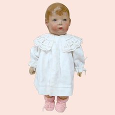 German Cloth Kathe Kruse Doll 1, Wide Hips, Separate Thumbs, 5 Leg Seams, Play With Condition