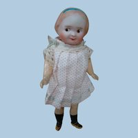 7-3/4 In. Bisque Head Googly on Excellent Quality Five-Piece Compo Body with Molded Shoes and Socks