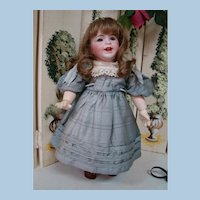 15.5 In. French S.F.B.J. Toddler, Character Mold #236, Open/Closed Smiling Mouth with Two Teeth, Blue Glass Sleep Eyes