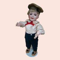 15.5 In. S.F.B.J. Character Toddler, Mold #236, Sleep Brown Glass Eyes, Open/Closed Mouth with a Big Smile
