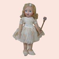 12 In. Cloth Chad Valley Rare Fairy Princess Original, Tagged Costume, 1917+