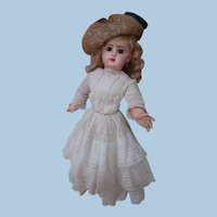 18 In. Lady Tete Jumeau on Marked First Version of the Jumeau Lady Body, Straight Wrists