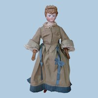 Early Simon & Halbig Molded Hair Shoulder Head Lady Doll of the 1870's