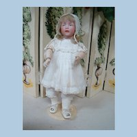 Rare Kammer & Reinhardt Mold Bisque Head Character #112 on Original Fully Jointed Body, Antique Clothes, Shoes