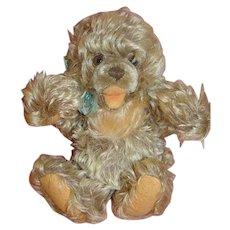 1950's 10 Inch Shaggy Frosty Mohair German Steiff Zottie Bear, Button and Ear Tag,