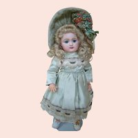 Delightful Cabinet Size Raberry & Delphieu (R. D.) Bebe, Early with Pale Bisque, 1880's Model