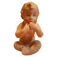 4-1/2 Inch Seated Gebruder Heubach Nude Kiss Throwing Piano Baby