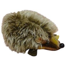 1950's German Steiff Hedgehog  #1670/10, Button, Yellow Ear Tag