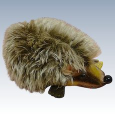 1950's German Steiff Hedgehog  #1670/10, Button, Yellow Ear Tag