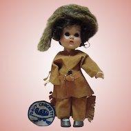 Vogue Ginny - Davy Crockett 1955 Molded Lash Str Leg Walker