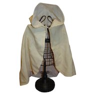 Antique Woolen Hooded Cape for 16-22 Inch Child or Baby Doll