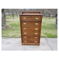 Oak 6 Drawer High Boy Chest