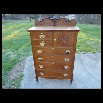 Oak Texas Highboy Chest