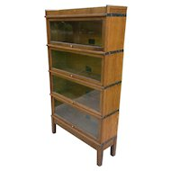 Oak 4 Stack Barrister Lawyer Stacking Bookcase