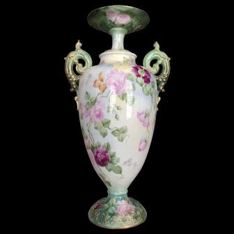 Incredible Roses Belleek Vase.
