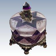 Stunning Austrian Jeweled Vanity Box Powder Jar