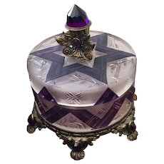 Stunning Austrian Jeweled Vanity Box Powder Jar
