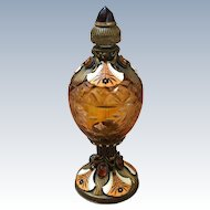 Outstanding Jeweled Enamel Austrian Perfume Bottle