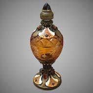 Outstanding Jeweled Enamel Austrian Perfume Bottle