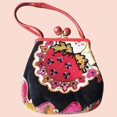 Vintage Emilio Pucci Velvet Handbag Purse