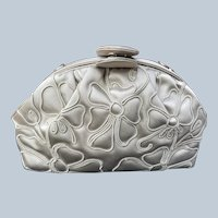 Vintage Judith Leiber Embroidered Silk Convertible Clutch Handbag Purse