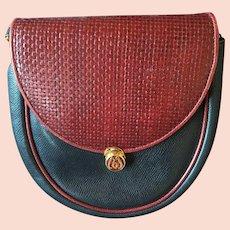 Vintage Morabito Paris Leather Clutch Convertible Shoulder Bag Purse
