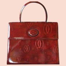Vintage Cartier Happy Birthday Leather Handbag Purse