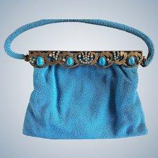 French Eugene Elias Hand Made Beaded Jeweled Purse c. 1950
