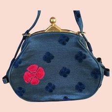 Vintage Roberta Di Camerino Velvet Studded Handbag Purse