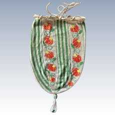 TO BE REMOVED 4-20- Vintage Beaded Deco Drawstring Purse