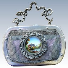 TO BE REMOVED 4-20 - Antique 19th Century Silesian Wire Work Coin Purse