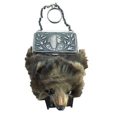 LAST CHANCE!  Antique Victorian Egyptian Cleopatra Mole Taxidermy Finger Ring  Coin Purse